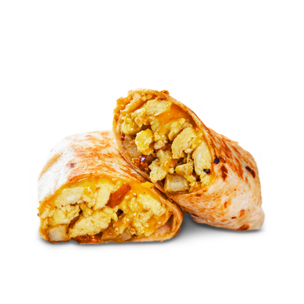Huge-Chicken-Sausage,-Egg-and-Cheese-Burrito-